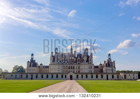 Chateau de Chambord in Loire Valley, France