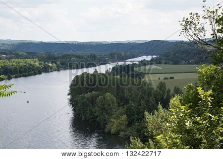 The Dordogne river winds through France's Perigord