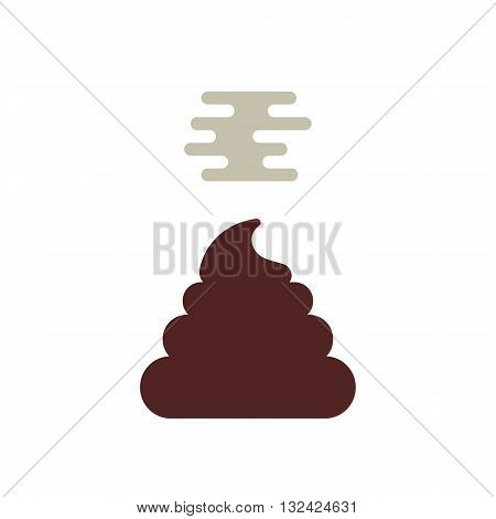simple stunk poo icon. concept of toilet, filthy, muck, shit happens, comedy, farm dirt, muddy waste product. isolated on white background. flat style trendy modern logotype design vector illustration