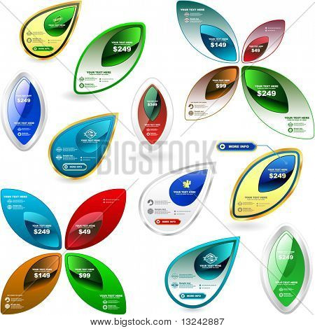 Vector set of sale banner and tag. Great collection.