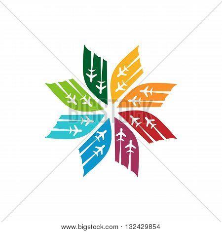 Logo Star Flit away Travel Plane Symbol