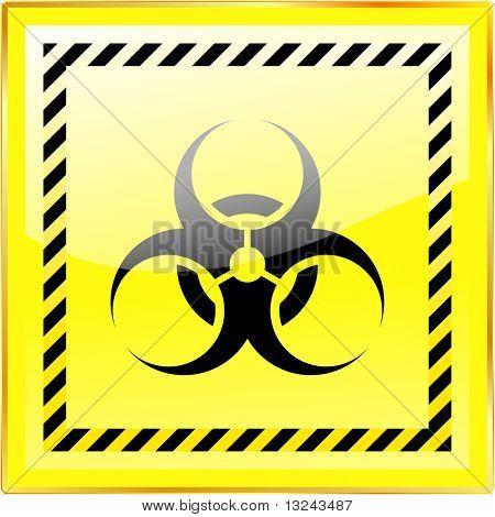 Biohazard sign. Vector illustration.