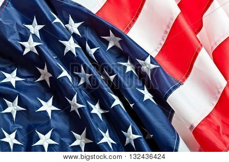real fabric old glory flag