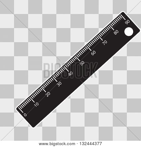 Vector Ruler icon Ruler icon flat Ruler icon app Ruler icon web Ruler icon art on transparent background