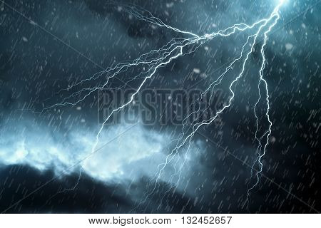 Lightning - A dark cloudy sky with lightning