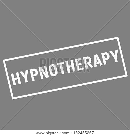 HYPNOTHERAPY white wording on rectangle gray background
