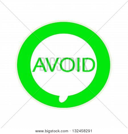Avoid green wording on Circular white speech bubble