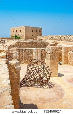 Fortress storage magazines and House of the Councillors. Rethymno Crete Greece