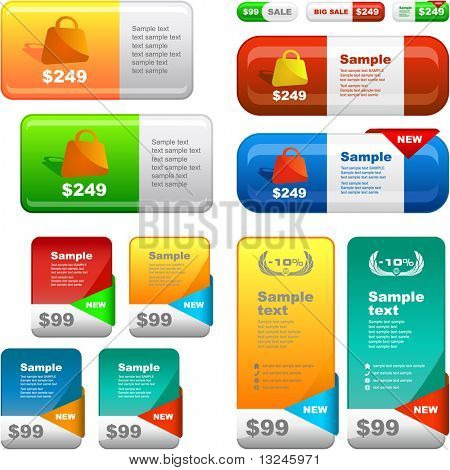 Vector set of sale banner. Great collection for sale.