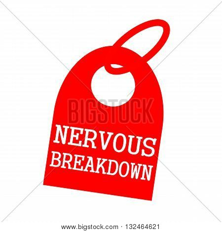 NERVOUS BREAKDOWN white wording on background red key chain