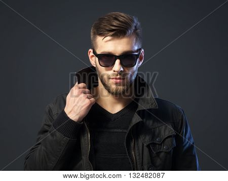 Portrait Of Cool Looking Handsome Young Man In Casual Wear.