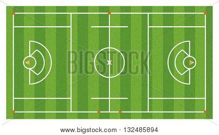 Aerial Lacrosse Field Illustration