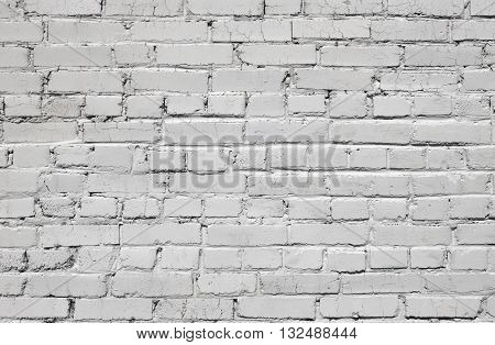 Stock Photo - White brick wall texture or background