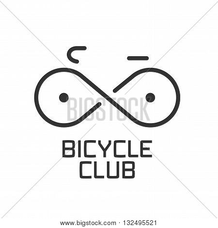 Bicycle club vector logo design element. Bicycling concept