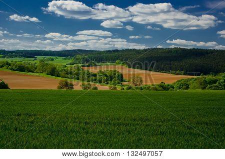 Spring landscape in the Moravian Karst. South Moravia, Czech Republic.