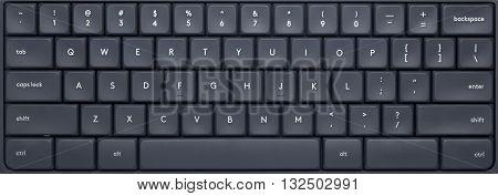 Closeup of the keys of a computer keyboard
