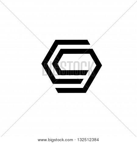 strong elegant letter C and E, letter C and G, letter G logo concept