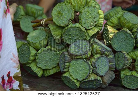 Calyx Lotus is food ( snack ) of Thailand.