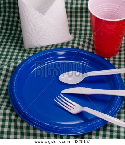 Summer Picnic Table Setting