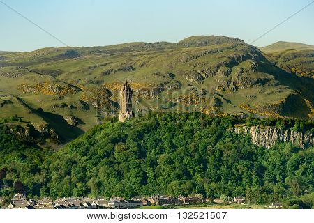 The National Wallace Monument on Abbey Craig north of Stirling in Scotland