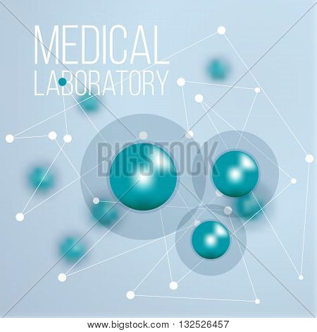 Biochemistry infographics design for science. Vector illustration of medical laboratories structure of cell.