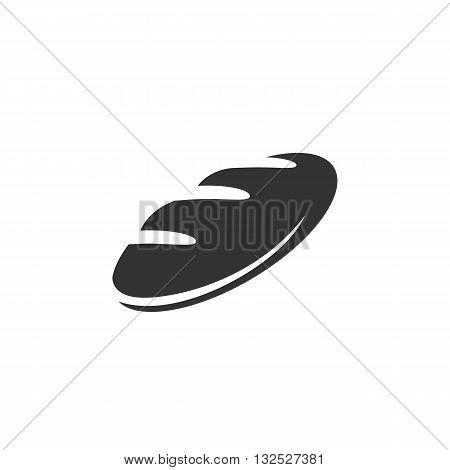 Loaf icon on white background. Loaf logo element for template. Modern vector pictogram for web graphics. Flat design style. Vector illustration. - stock vector