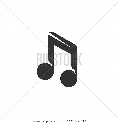 Music icon on white background. Music vector logo. Flat design style. Modern vector pictogram for web graphics. - stock vector