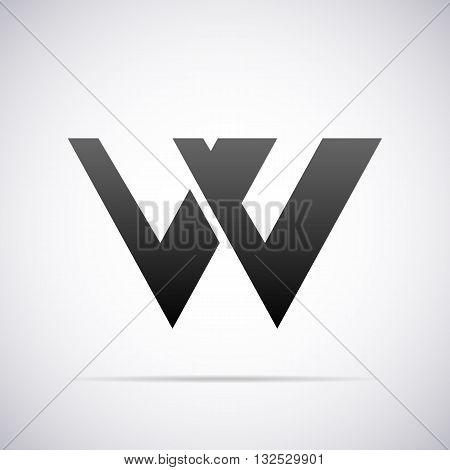 Logo for letter W design template vector illustration