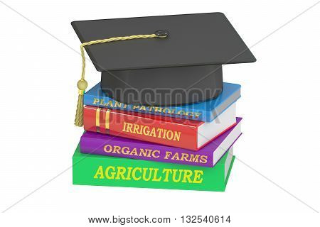 Agriculture Education concept 3D rendering isolated on white background