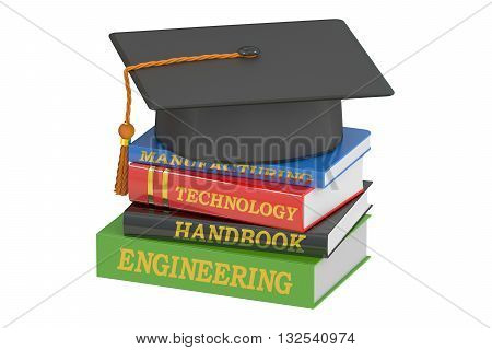 Engineering Education concept 3D rendering isolated on white background