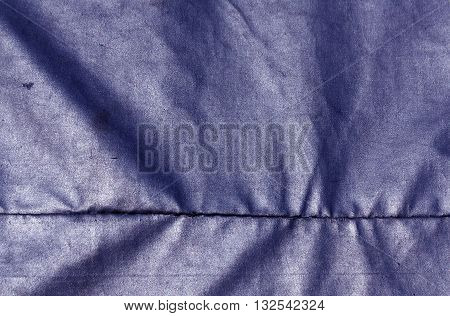Abstract Blue Waterproof Textile Texture.