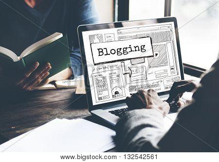 Blogging Blog Writing Journalist Concept