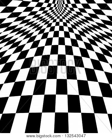 Black and White Hypnotic Fascinating Abstract Image.Vector Illustration. EPS10