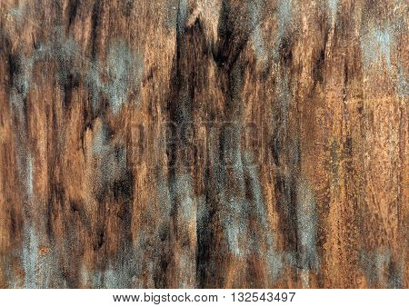 Rusty Metal Wall Syrface With Paint Strockes.