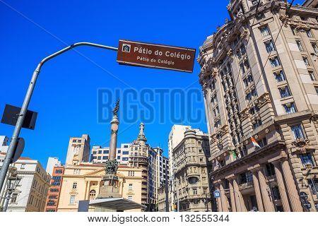 Patio Do Colegio Square In Sao Paulo