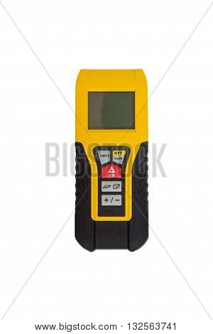 laser measuring tape isolated on white background