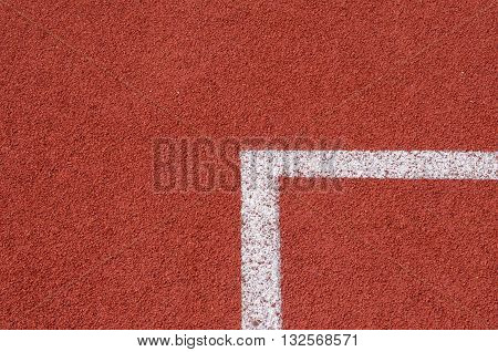 conner of running track Olympic, line, red