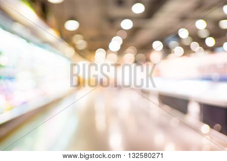 Blurred Background : Supermarket Store Blur Background With Bokeh