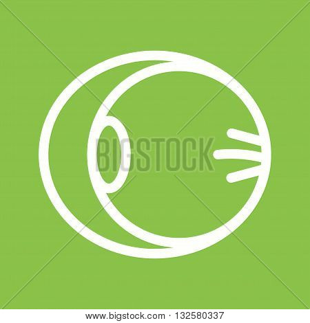 Human, optic, nerve icon vector image. Can also be used for human anatomy. Suitable for mobile apps, web apps and print media.