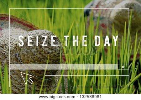Seize The Day Outdoors People Graphic Concept