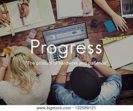 Progress Product Hardwork Patience Graphic Concept