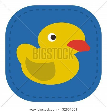 design baby icon toy duck_Color illustration logo