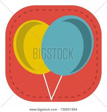 design Baby Icon logo balloon_Color toy illustration