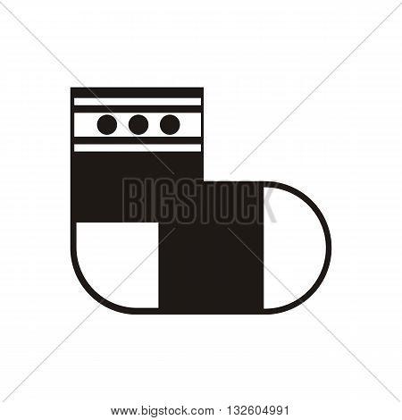 design Baby icon socks_Black illustration logo symbol
