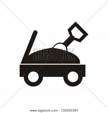 design Baby icon toy cars_Black vector illustration