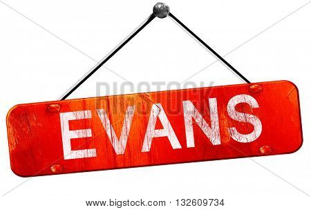 evans, 3D rendering, a red hanging sign