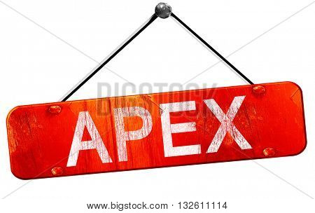 apex, 3D rendering, a red hanging sign