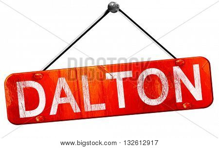 dalton, 3D rendering, a red hanging sign