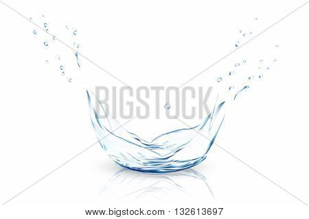 water. water splash isolated. blue water mesh gradient vector