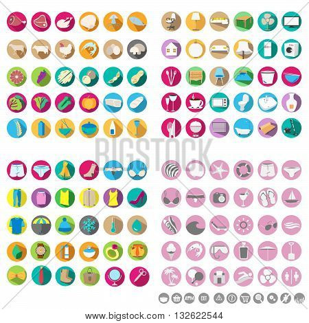 Set of store icon design background for markets